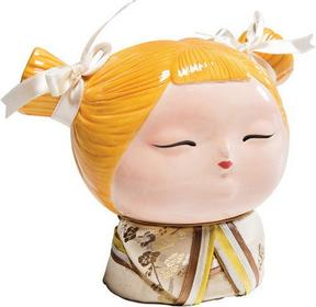 Kare Design Skarbonka Japanese Girl żółta - - Skarbonka Japanese G