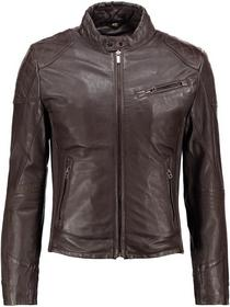 Goosecraft Kurtka skórzana brown biker904