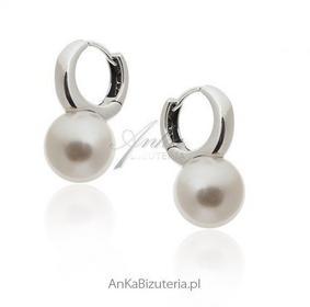 AnKa Biżuteria Kolczyki srebrne perły białe