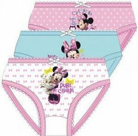 Disney Licencja Bielizna Myszka Minnie - Majtki 8 - 3szt/kpl