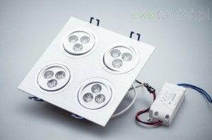 Oprawa Sufitowa LED 4*3x1W