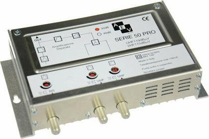 AEV Wzmacniacz MAS1930U Pro z zasilaczem Radio-UHF-UHF reg. 30 dB, 119 dBuv