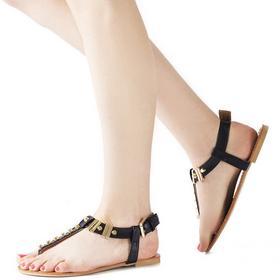 Czarne sandały Leire czarny