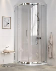 Cersanit CDOM01 90x90 szkło transparentne + brodzik