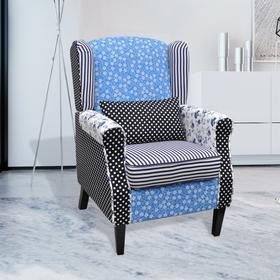 vidaXL Patchworkowy fotel, rustykalny
