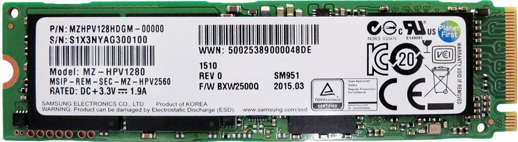 Samsung SM951 MZHPV128HDGM