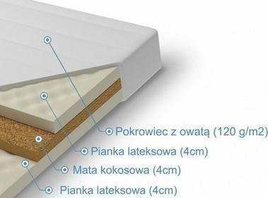 Laris Polska Materac lateksowy z kokosem Talia 180x200