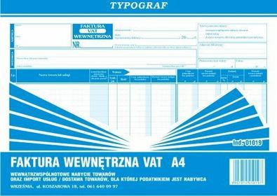 Typograf Faktura wewnętrzna VAT A4 wewnątrzwspólnotowe nabycie towarów