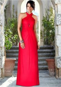 Bonprix Sukienka z założeniem kopertowym kremowy 924886