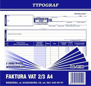 Typograf Faktura VAT z ceną brutto 2/3 A4 - wielostawkowa