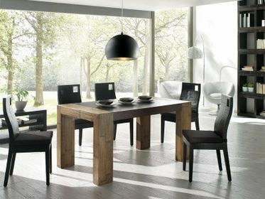 Bortoli Komplet jadalniany z bambusa prasowanego - Stół Stone i 4 krzesła Hotel
