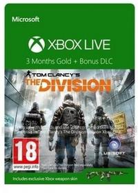 Microsoft Xbox Live Gold The Division Abonament 3 Miesięczny+Dlc The Division 1300764