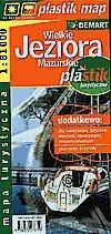 Wielkie Jeziora Mazurskie - laminowana mapa turystyczna