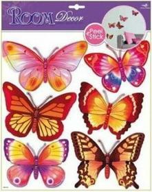 Ogniste motyle - winylowa Naklejka na ścianę