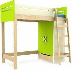 Timoore Łóżko piętrowe prawe - - Simple Green T01-18R-G-B