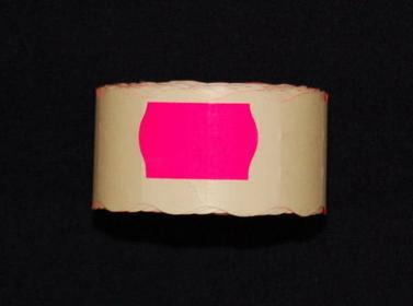 Rolka do metkownicy dwurzędowej - 2,6x1,6cm różowa falista 00924