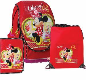 Disney Sun Ce Zestaw szkolny ABB Minnie plecak anatomiczny, worek, piórnik