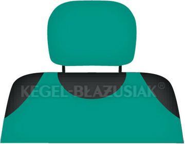 Kegel-Błażusiak pokrowce Pokrowce koszulki COTTON na zagłówki zielone - 2szt