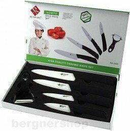 KOMPLET Zestaw noży ceramiczneCH RENBERG RB-2508 + OBIERACZKA