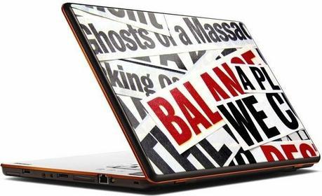 Oklejaj Naklejka na laptopa - Gazeta 0007