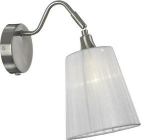 Markslojd klasyczna LAMPA ścienna ABAŻUROWA oprawa Kinkiet do sypialni MJOLBY 104327 satyna Biały