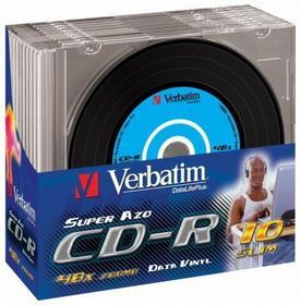 Verbatim cd-r 700mb x48 super azo vinyl disc Slim 10 v43426, 43426