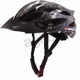 Brenda Dax Kask rowerowy rozm. L/XL (58-61) czarno-srebrny