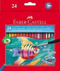 Faber-Castell FABER CASTELL Kredki akwarelowe Rybka 24 kolorów + pędzelek 114425