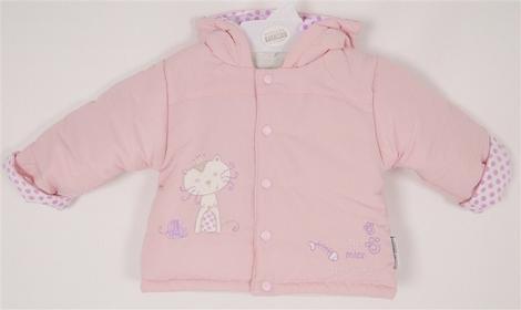 kurtka na zime dla dziewczynki jasny roz Princess