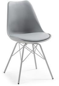 LaForma Krzesło Lars Plastikowe Szare C768S03
