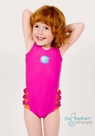 Splash About Kostium kąpielowy dziewczęcy różowy z falbankami