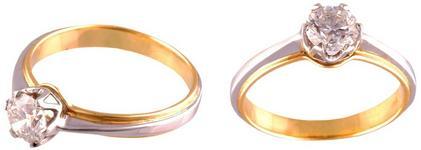 Terpiłowski Złoty pierścionek z brylantem 0,8 ct 170003238