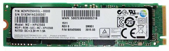 Samsung SM951 MZHPV256HDGL