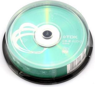 TDK CD-R 700MB Audio (Szpula, 10 CD-RX80CBA10, t19832, CD-RX80CBA10-B
