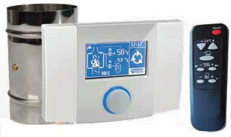 Lava kominki Zestaw automatyki AERO sterownik EcoKom z przepustnica powietrza i