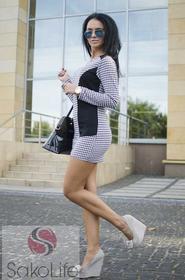 SakoLife Tunika - sukienka w pepitkę