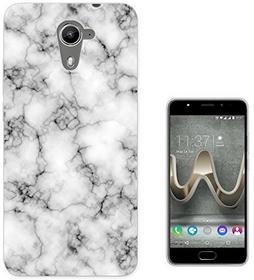 Wiko 001229 - Novelty Fun Marble Texture Design U Feel Prime Fashion Trend Silikon Hülle Schutzhülle Schutzcase Gel Rubber Silicone Hülle
