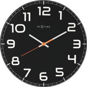 Nextime Zegar ścienny Classy czarny 8817 ZW