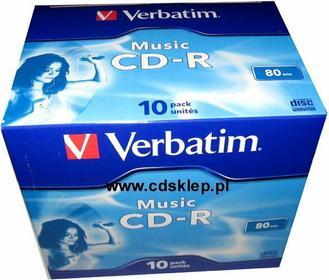 Verbatim CD-R AUDIO 700MB pudełko box 10