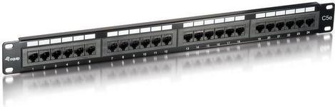 Equip PATCH PANEL 24 PORT 1U KAT.5E CZARNY (235324)