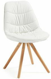 LaForma Krzesło Lars Białe (nogi drewniane) C632U05