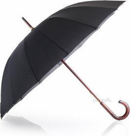 Falcone Parasol męski klasyczny, długi, 16-szprychowy London czarny GR440