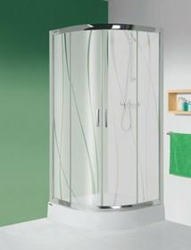 Sanplast Tx 5 100 KP4/TX5-100+BPza 100x100 profil srebrny szkło W0 + brodzik