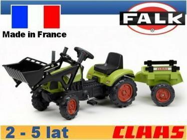 Falk Traktor Claas z ładowaczem i przyczepą FA2040CM