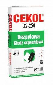 Cekol Bezpyłowa gładź gipsowa GS-250 20kg gs250