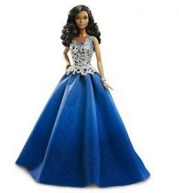 Mattel Barbie Świąteczna lalka niebieska DGX99