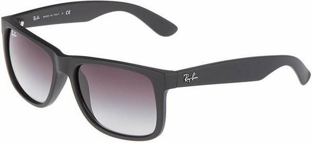 Ray Ban Ray-Ban JUSTIN Okulary przeciwsłoneczne czarny 0RB4165 55