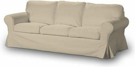 Dekoria Pokrowiec na sofę Ektorp 3-osobową, nierozkładaną Living beżowy