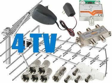 Zestaw antenowy dla 4 TV: TRI-DIGIT PLATINUM + wzmacniacz LNA-177 + zasilacz ant
