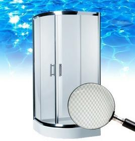 Omnires Health 90x90 profil chrom błyszczący szkło chess JK2809 LC2 CHESS